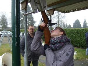 Maud Guitjens in actie