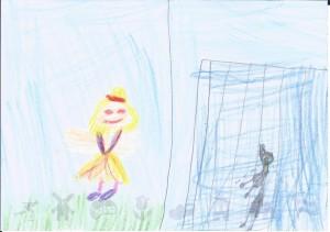 tekening gemaakt door Lara