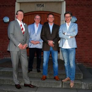 Wethouders v.l.n.r.: Van der Stek, De Bruijn, De Win en Bosmans (c) margot van den boer